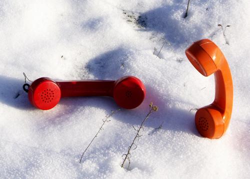 Conversation in snow