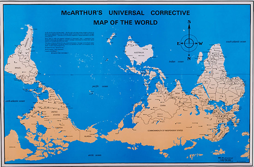 Universal corrective map of the world