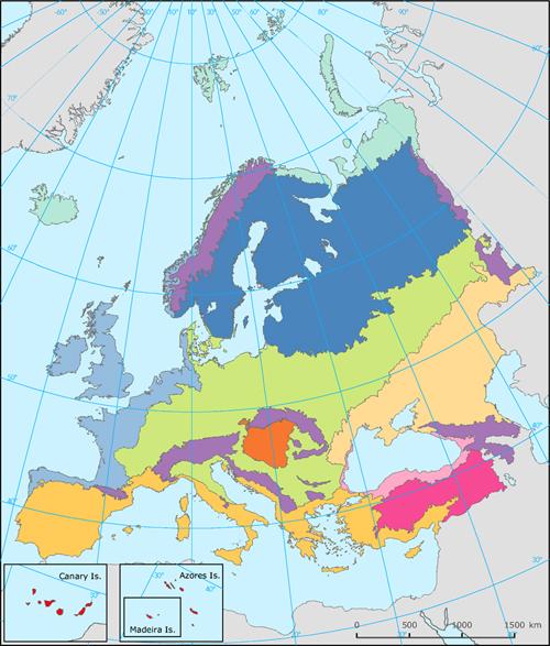 Biogeographical regions