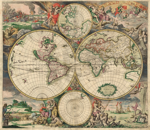 A world map of 1689
