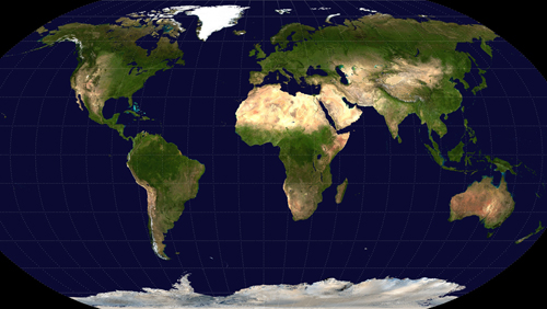 Robinson projection of the world