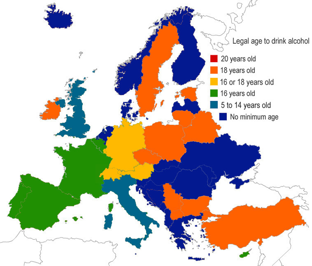 Drinking Age Countries Around The World