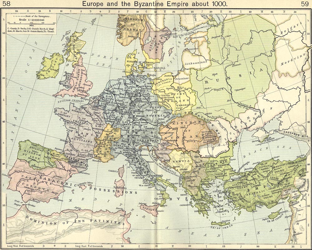 Ancient Map Europe
