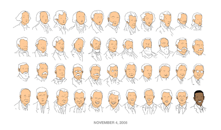 A long row of presidents