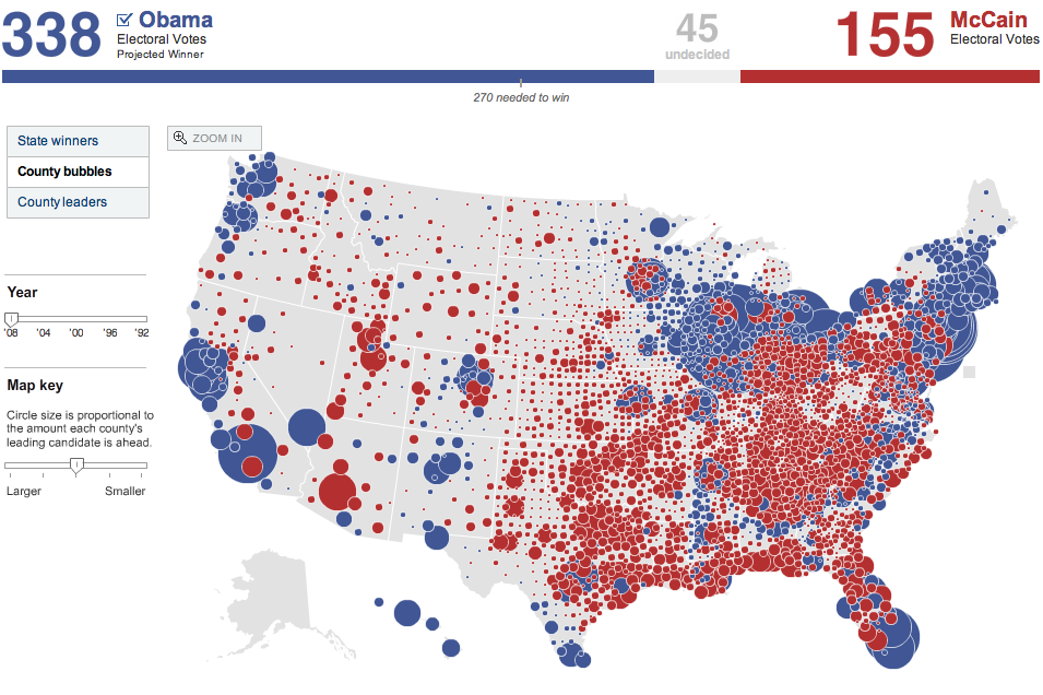 NYT Election Map