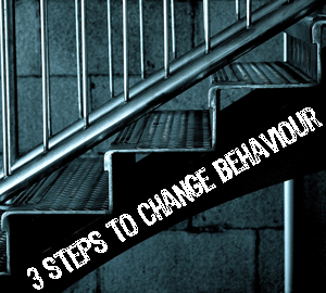 Three steps to change behaviour? | Photo by Rohit Mattoo